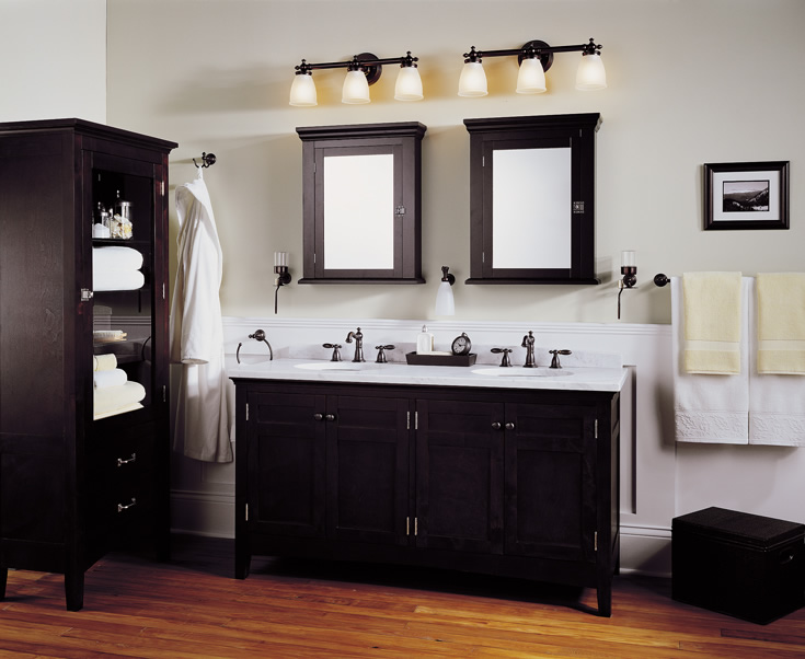 Bathroom lighting fixtures casual cottage for Modern light fixtures bathroom
