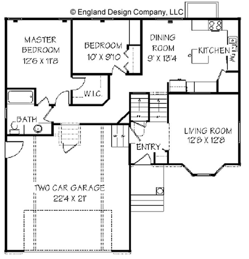 Garage Under Split Level Plan 69133am: Split Level House Plans With Photos
